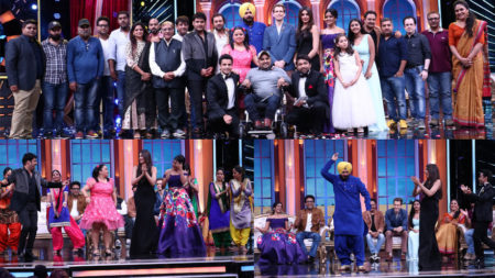Kapil Sharma caught in the moment on Oye Firangi 1