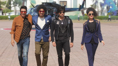 The Voice Kids coaches – Shaan, Himesh, Papon and Palak descend from the sky!