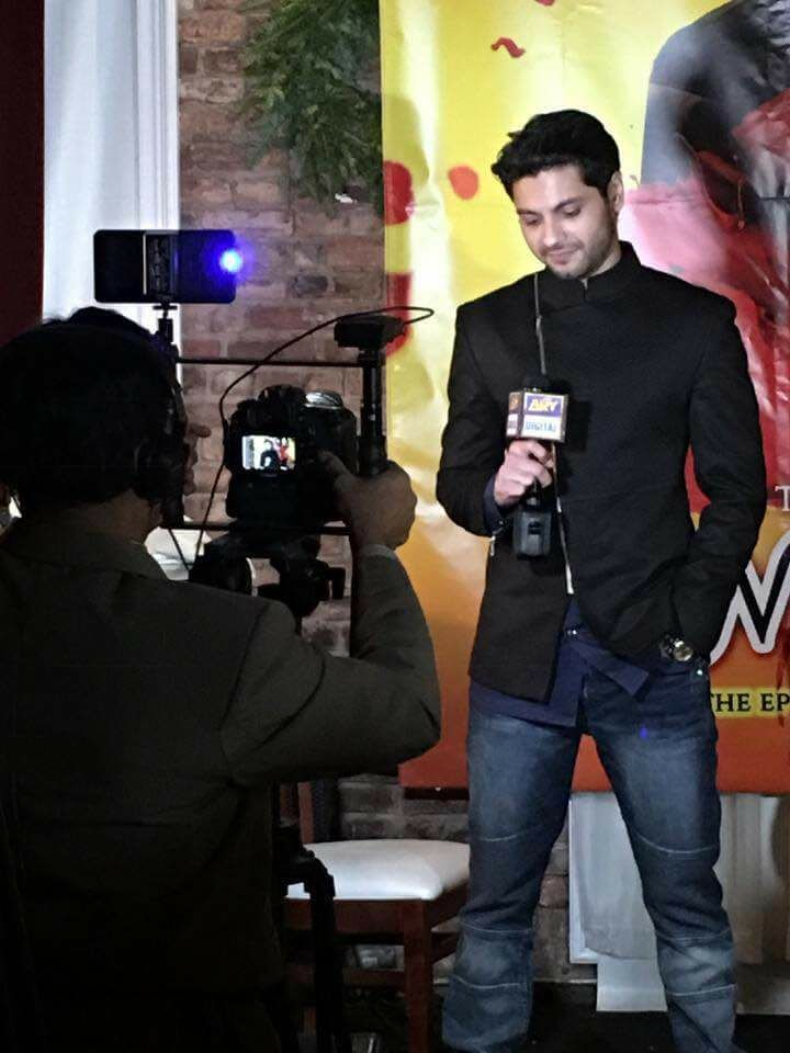 Mishal Raheja's successful song launch in New York 2