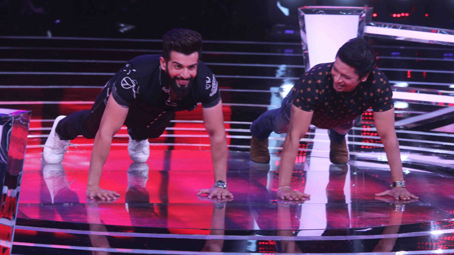 Shaan accepts Jay's fitness challenge on The Voice India Kids