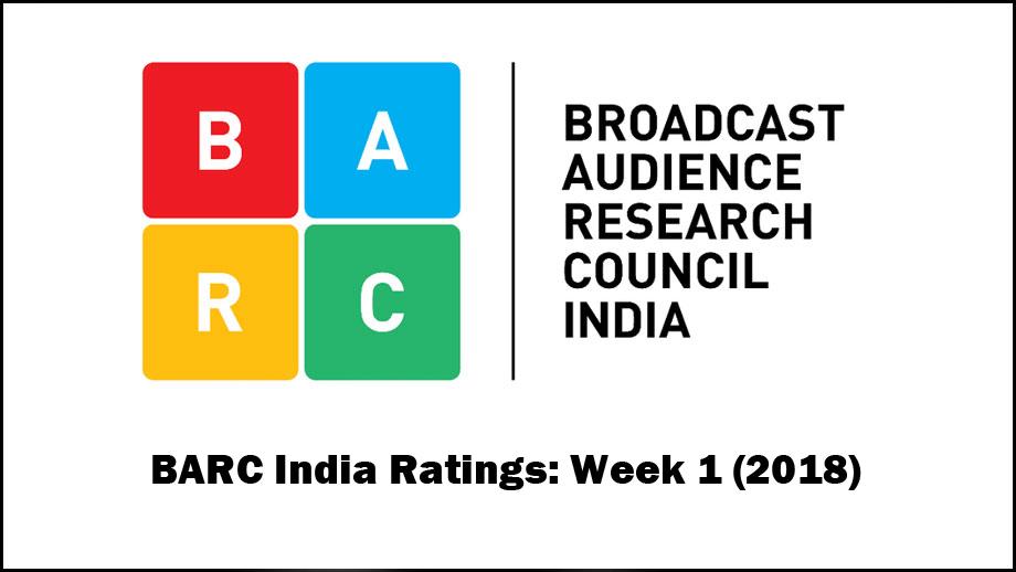 BARC India Ratings: Week 1 (2018)