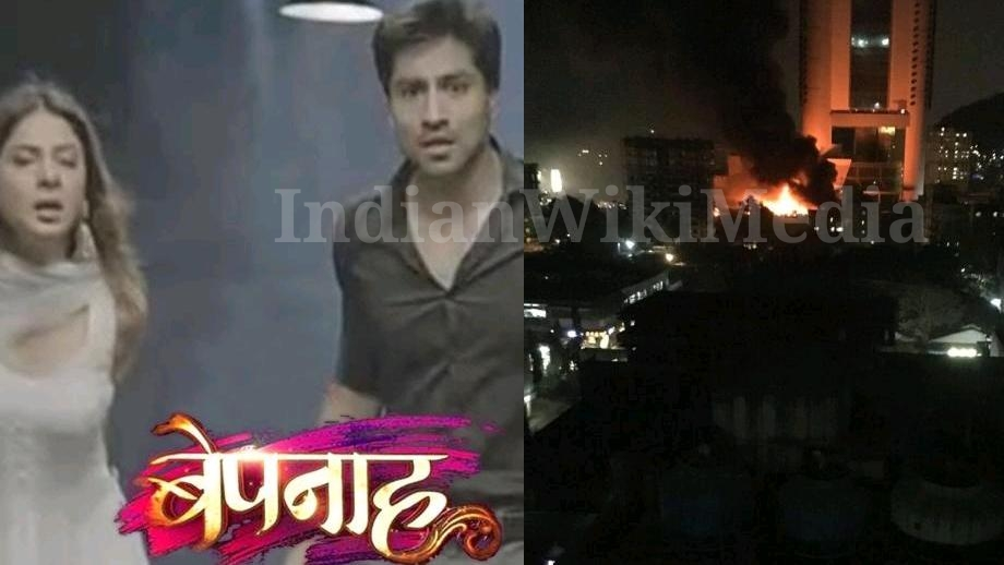 Fire on the sets of Colors' Jennifer Winget-Harshad Chopda starrer Bepannaah