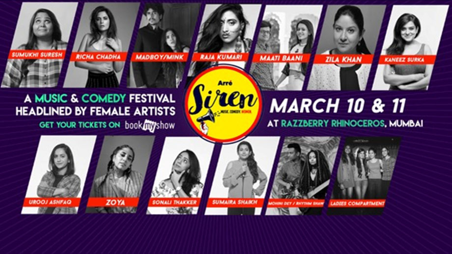 Arré Launches a Music & Comedy Festival headlined by only Women, called Arré Siren