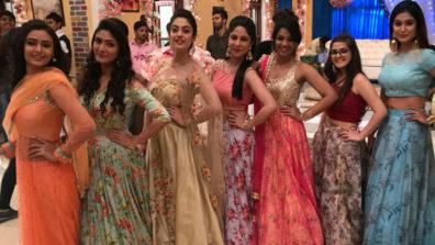 Floral-themed engagement in Zee TV's Kaleerein