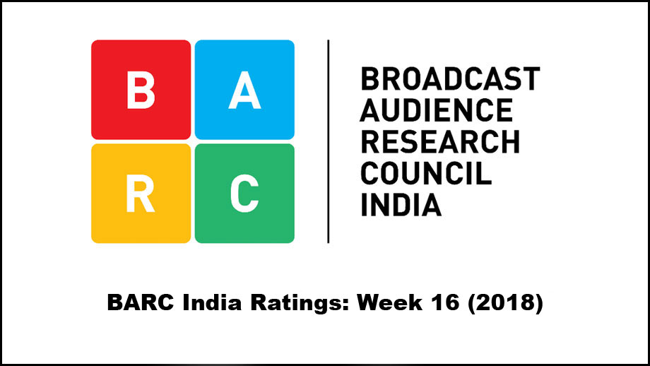 BARC India Ratings: Week 16 (2018); Colors back to #1
