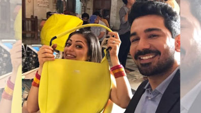 Abhinav Shukla rescues Drashti Dhami from 'bag' troubles!