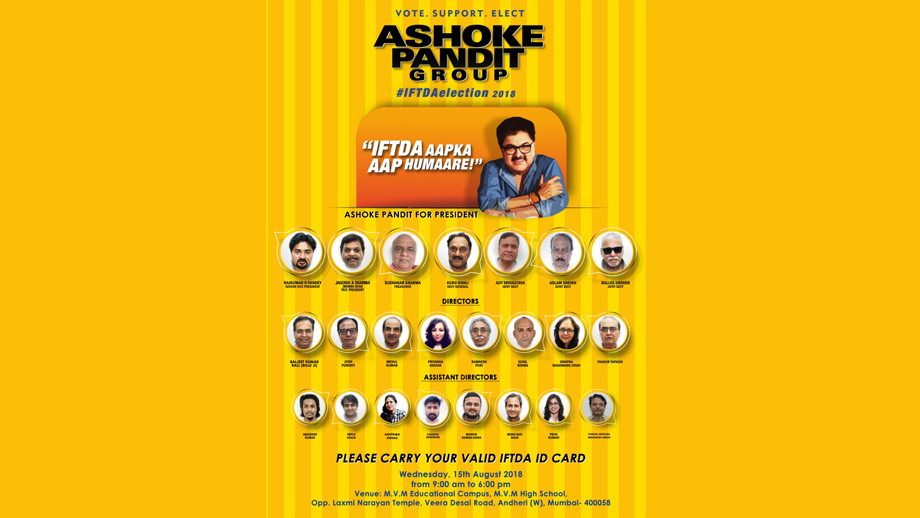 Exclusive: Ashoke Pandit Group WINS IFTDA Elections 2018 with a huge margin