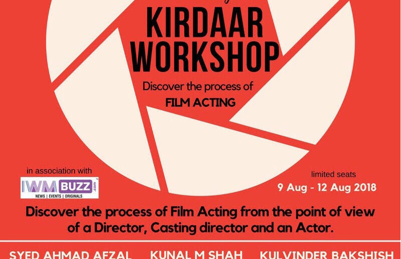 The Kirdaar Workshop: Discover the process of film acting 2