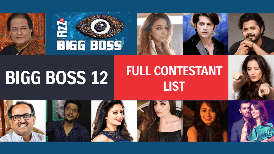 Final List: Bigg Boss 12 Contestants