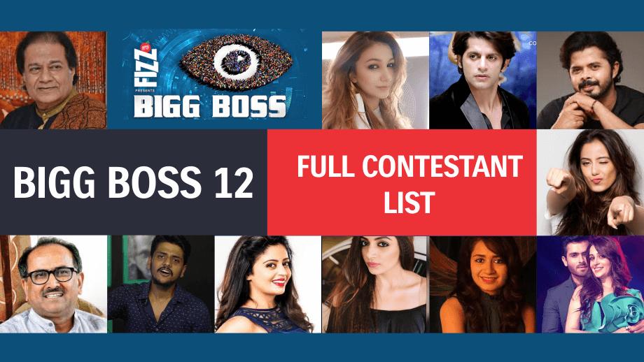 Final List: Bigg Boss 12 Contestants