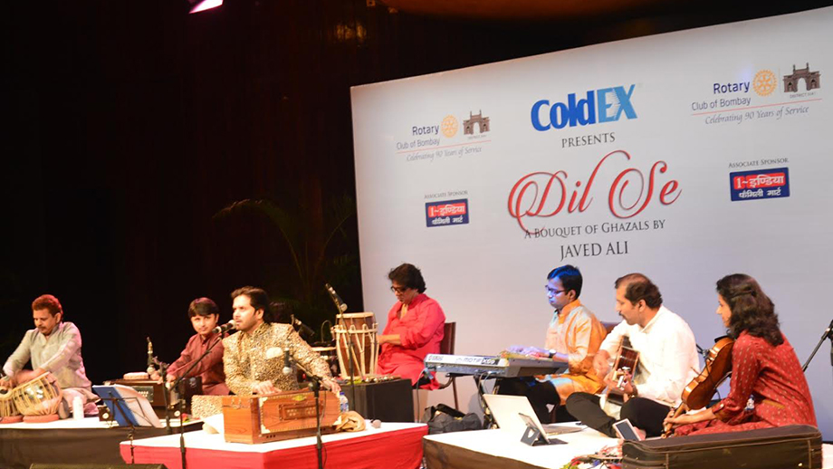Javed Ali performs at - Dil Se, a musical extravaganza brought to you by Rotary Club of Bombay