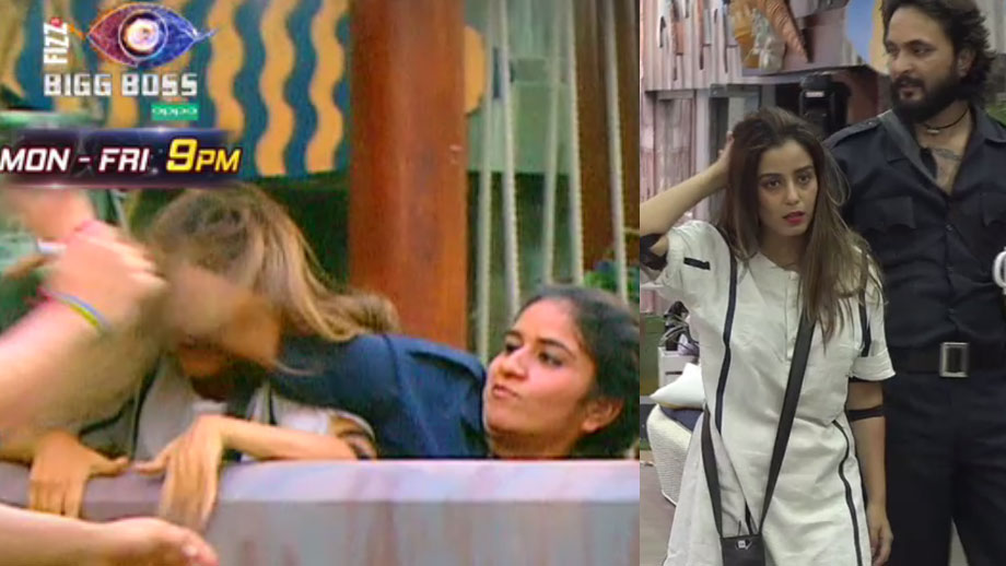 Surbhi pulls Srishty's hair during the task in Bigg Boss 12
