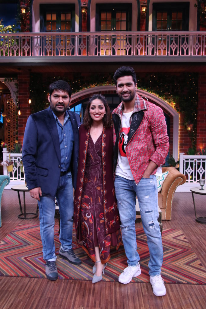 Vicky Kaushal and Yami Gautam in The Kapil Sharma Show 6