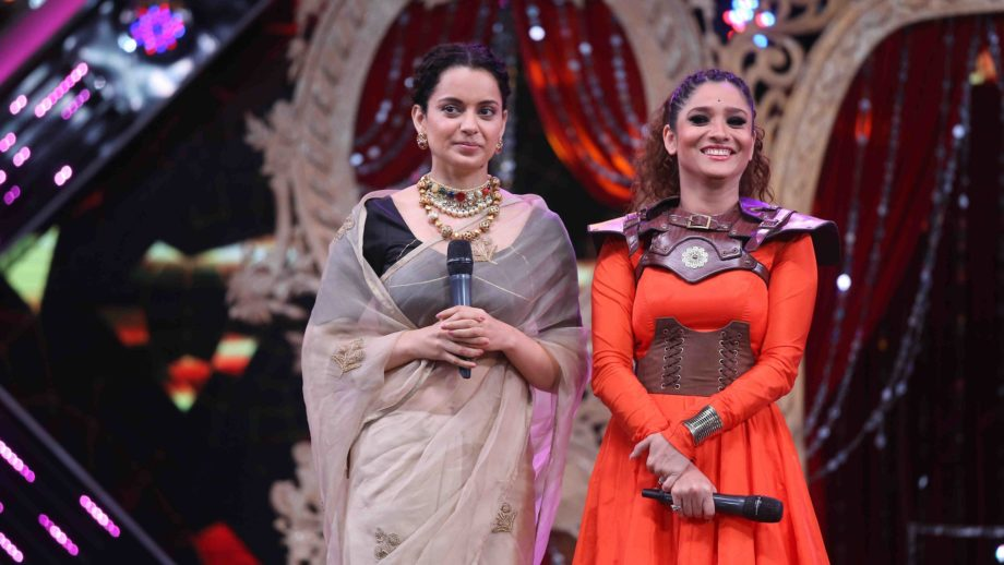 Manikarnika cast at Sa Re Ga Ma Pa Finale 7