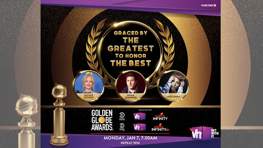 Watch the 76th Golden Globe Awards on Vh1, Comedy Central and Colors Infinity