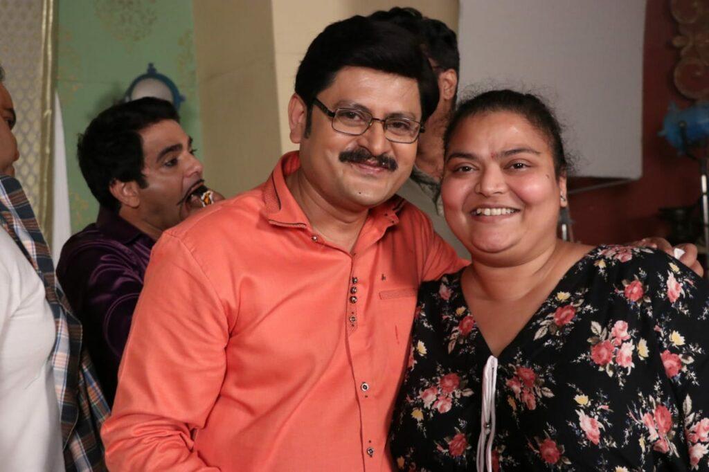 Rohitashv Gour's birthday celebration on Bhabhiji Ghar Par Hai set 10