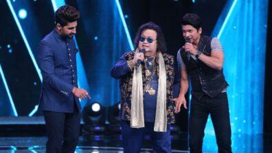 Bappi Lahiri, Amit Kumar and Dhvani Bhanushali on Sa Re Ga Ma Pa Li'l Champs 2