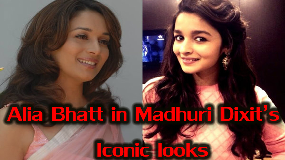 Have you ever imagined Alia Bhatt in some of Madhuri Dixit's iconic looks? See here! 5