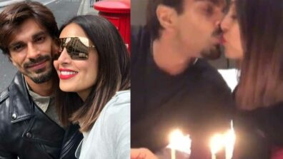 Karan Singh Grover and Bipasha Basu kiss and celebrate their third wedding anniversary
