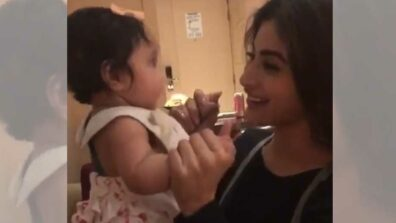 Mouni Roy playing with a kid will make your day!