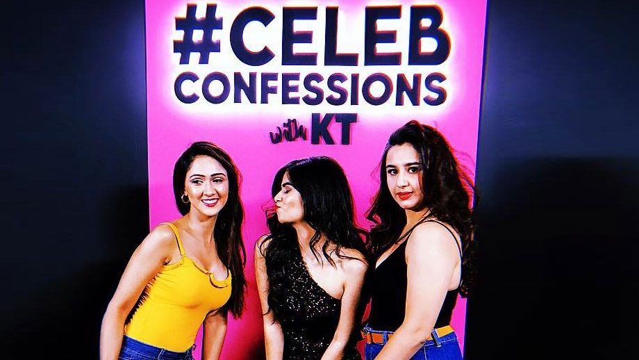 Sanaya Pithawala and Krissann Barretto in Kajal Tyagi's talk show #CelebConfessions with KT