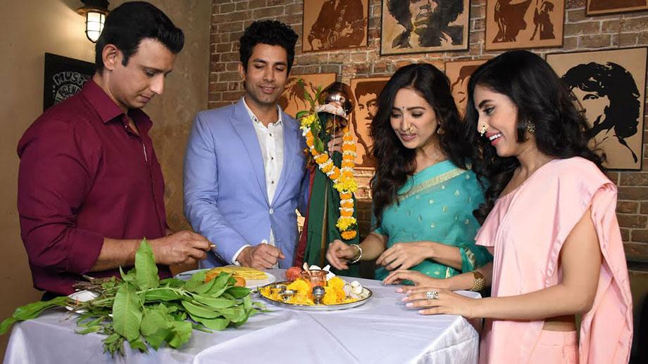 Sharman Joshi and Asha Negi celebrate Gudi Padwa on the sets ALTBalaji'sweb-seriesBaarish 1