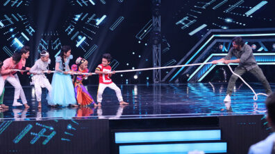 'Tug Of War' with Suniel Shetty on Super Dancer Chapter 3 1