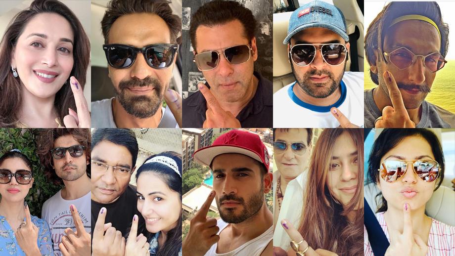 #VoteKarMumbai: Kapil Sharma, Nakuul Mehta, Salman Khan, Aamir Khan, Drashti Dhami cast their votes