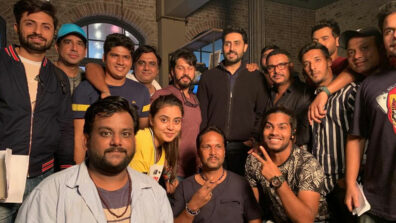 Abhishek Bachchan meets Shabir Ahluwalia and Soham on sets of Fixerr 2