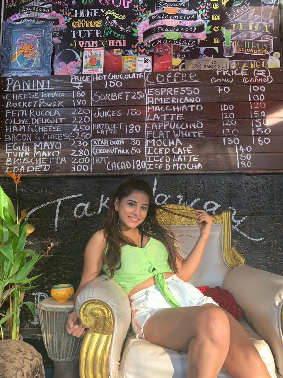 Bhumika Gurung aka Nimki has a gala time in Goa 3