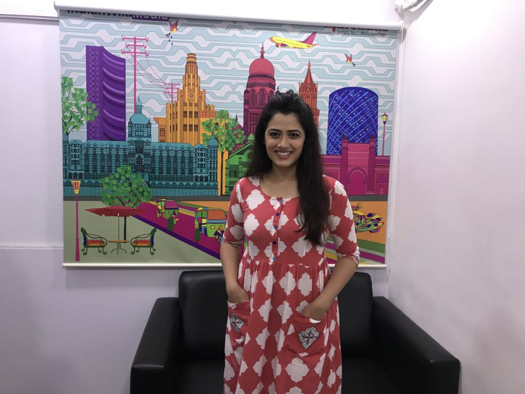 Girija Oak poses after a fun LIVE chat with IWMBuzz 1