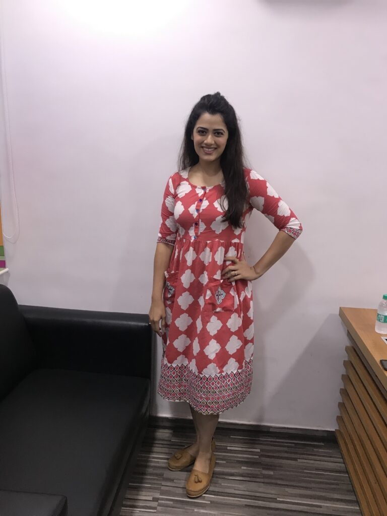 Girija Oak poses after a fun LIVE chat with IWMBuzz 3