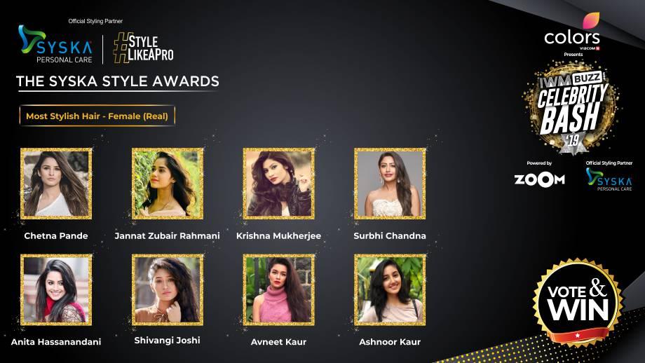 Vote Now: Who has the Most Stylish Hair (Real)? Chetna Pande, Jannat Zubair Rahmani, Krishna Mukherjee, Surbhi Chandna, Anita Hassanandani, Shivangi Joshi, Avneet Kaur, Ashnoor Kaur 1