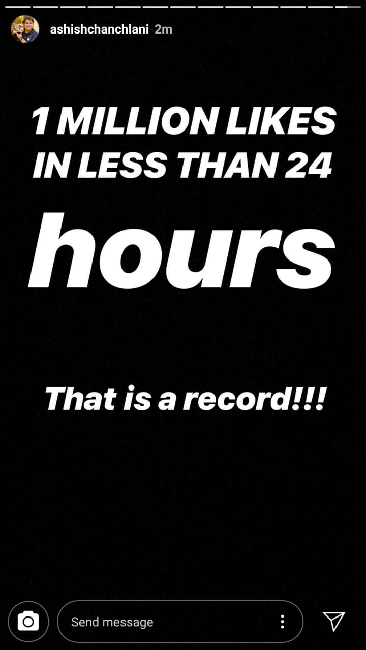 Ashish Chanchlani video hits 1 million likes in just 13 hours 1