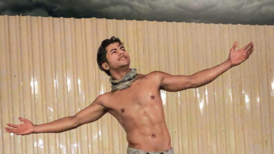 Siddharth Nigam does a SRK pose in the first rain