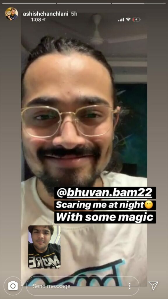 Bhuvan Bam and Ashish Chanchlani's late-night Masti