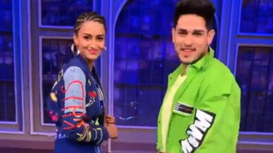 Erica Fernandes and Priyank Sharma show off their swag on Colors show