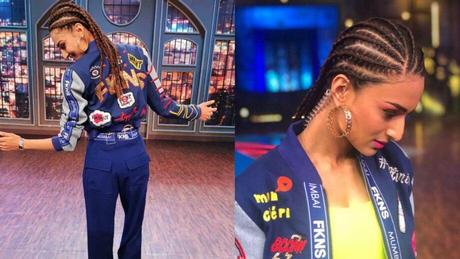 Erica Fernandes rocks the funky braided hair look 4