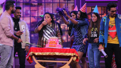 Harsh Limbachiyaa throws a surprise birthday party for Bharti Singh on the sets of Colors' Khatra Khatra Khatra 5