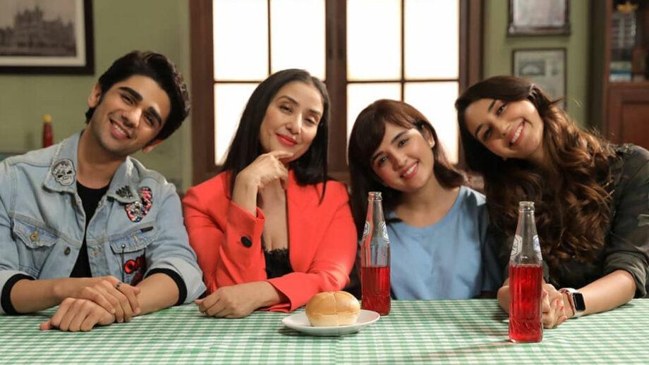 Manisha Koirala, Shirley Setia, Nikita Dutta and Prit Kamani in Netflix film Maska