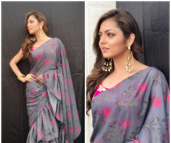 All the times Drashti Dhami redefined sexy while totally rocking a sari 5