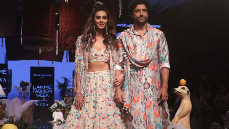 Farhan Akhtar and Shibani Dandekar slay as they walk together at Lakme Fashion Week 2019