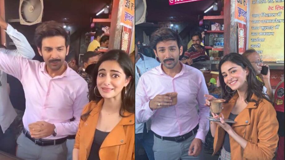 Kartik Aaryan and Ananya Panday's chai bonding