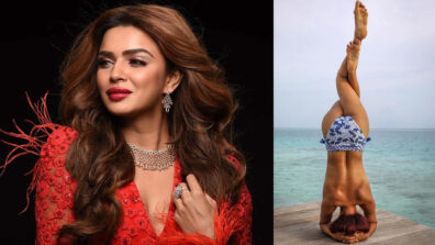 Naagin actress Aashka Goradia goes topless in her yoga picture