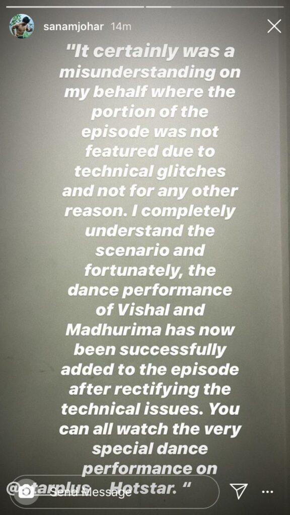 Nach Baliye 9: Sanam Johar clears misunderstanding on his LGBTQ act performed by Vishal Aditya Singh and Madhurima Tuli