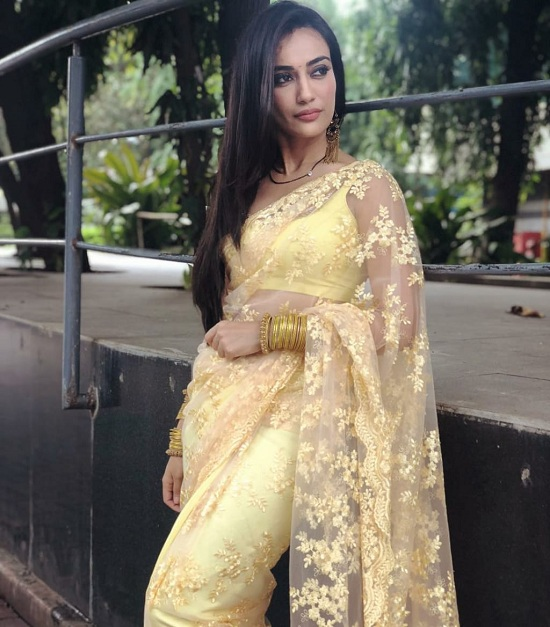 Surbhi Jyoti redefines sexy every time she steps out in a saree 3