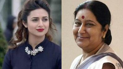 Yeh Hai Mohabbatein actress Divyanka Tripathi pays tribute to Sushma Swaraj
