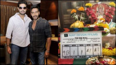 Ajay Devgn welcomes Abhishek Bachchan for their next 'The Big Bull'