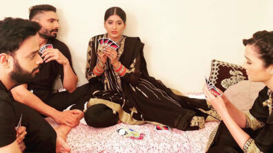 Choti Sarrdaarni actors Nimrit, Amal, Abhilasha enjoy a fun game of UNO on set 2