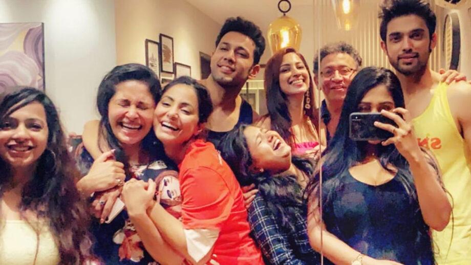 Hina Khan, Shubhaavi Choksey, Sahil Anand at Parth Samthaan's house warming party
